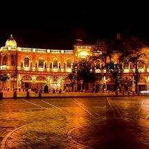 نورپردازی میدان حسن آباد تهران